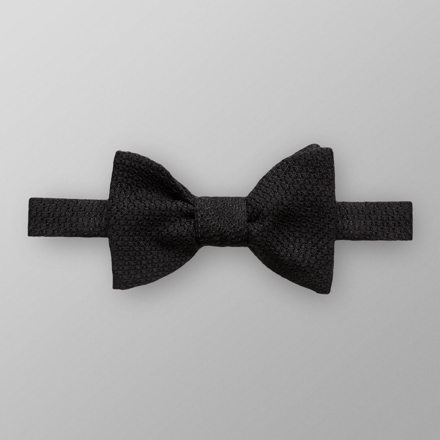 Black Grenadine Bow Tie - Ready Tied