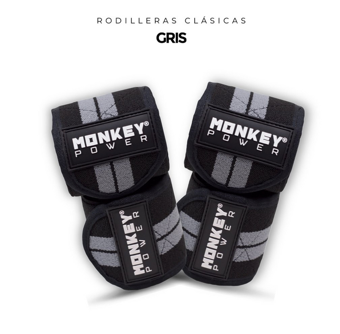 Rodilleras Clásicas Gris- Monkey Power