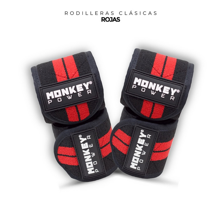 Rodilleras Clásicas Rojas- Monkey Power
