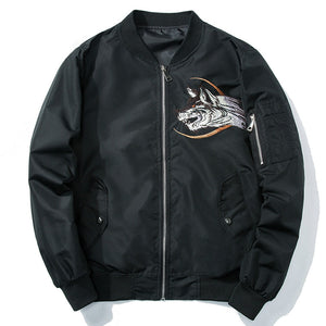 Bombers brodé homme moon wolf