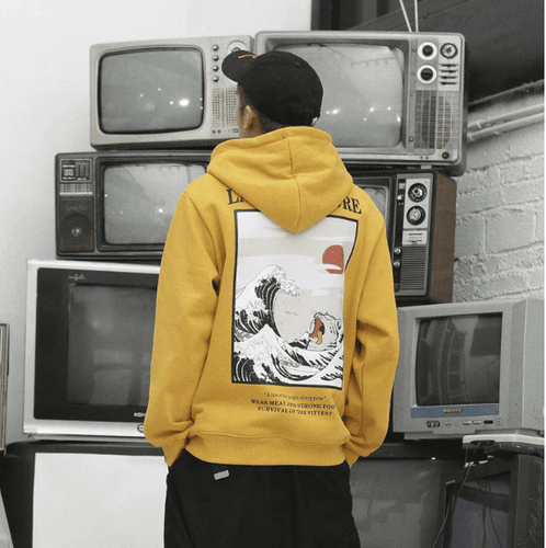 sweat pull japon capuche japonais dragon ball tortue naruto law of nature bleach berserk fashion style original fashion french hoodie free genial vêtement streetwear jaune noir blanc pull capuche streetwears habit japan cloth outfit noel cadeau present tendance mode plus trend