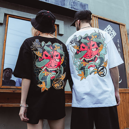 T-shirt streetwear asiatique diable
