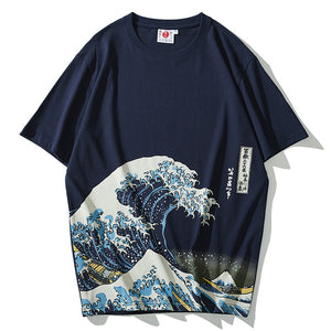 T-shirt premium - La vague d'Hokusai