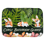 Corgi bathroom guard Bath Mats