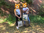 Corgi Tote bag / Shopper Double Trouble 100% Cotton