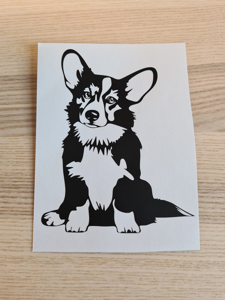 Pembroke welsh Corgi sitting Vinyl sticker - Princess Nugget Shop