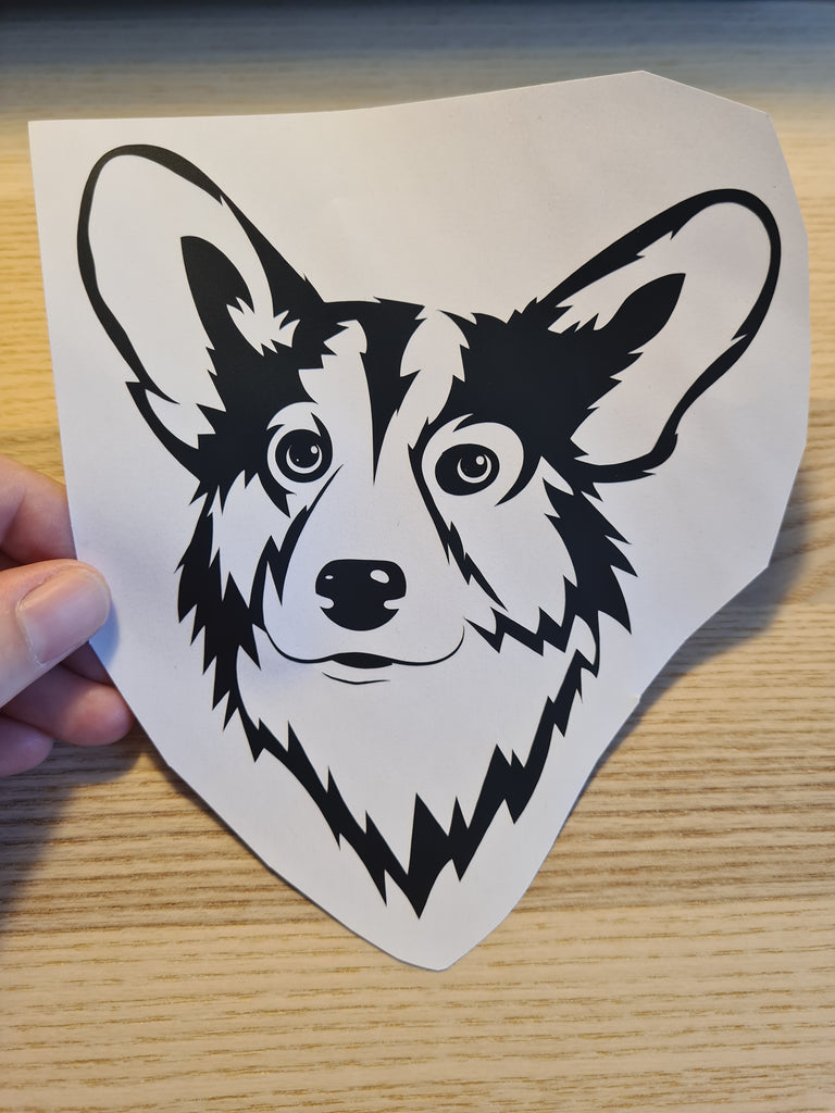Pembroke welsh Corgi Head Vinyl sticker - Princess Nugget Shop