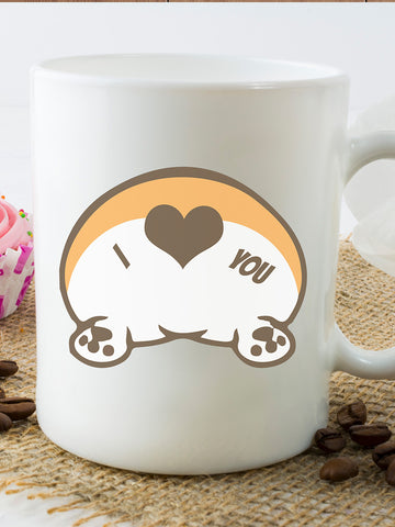 Corgi butt love Mug - Coffee cup