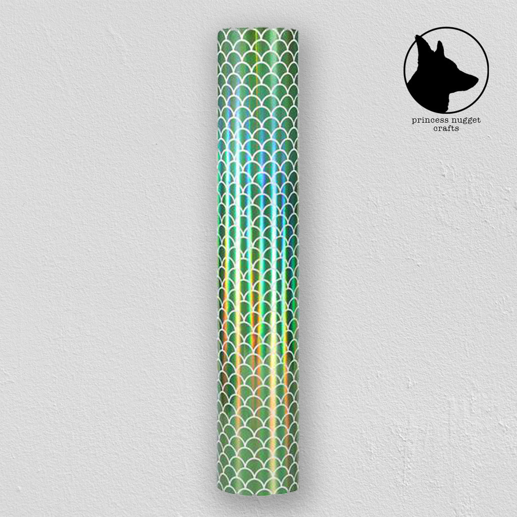 Holographic Mosaic Green Mermaid - Princess Nugget Shop