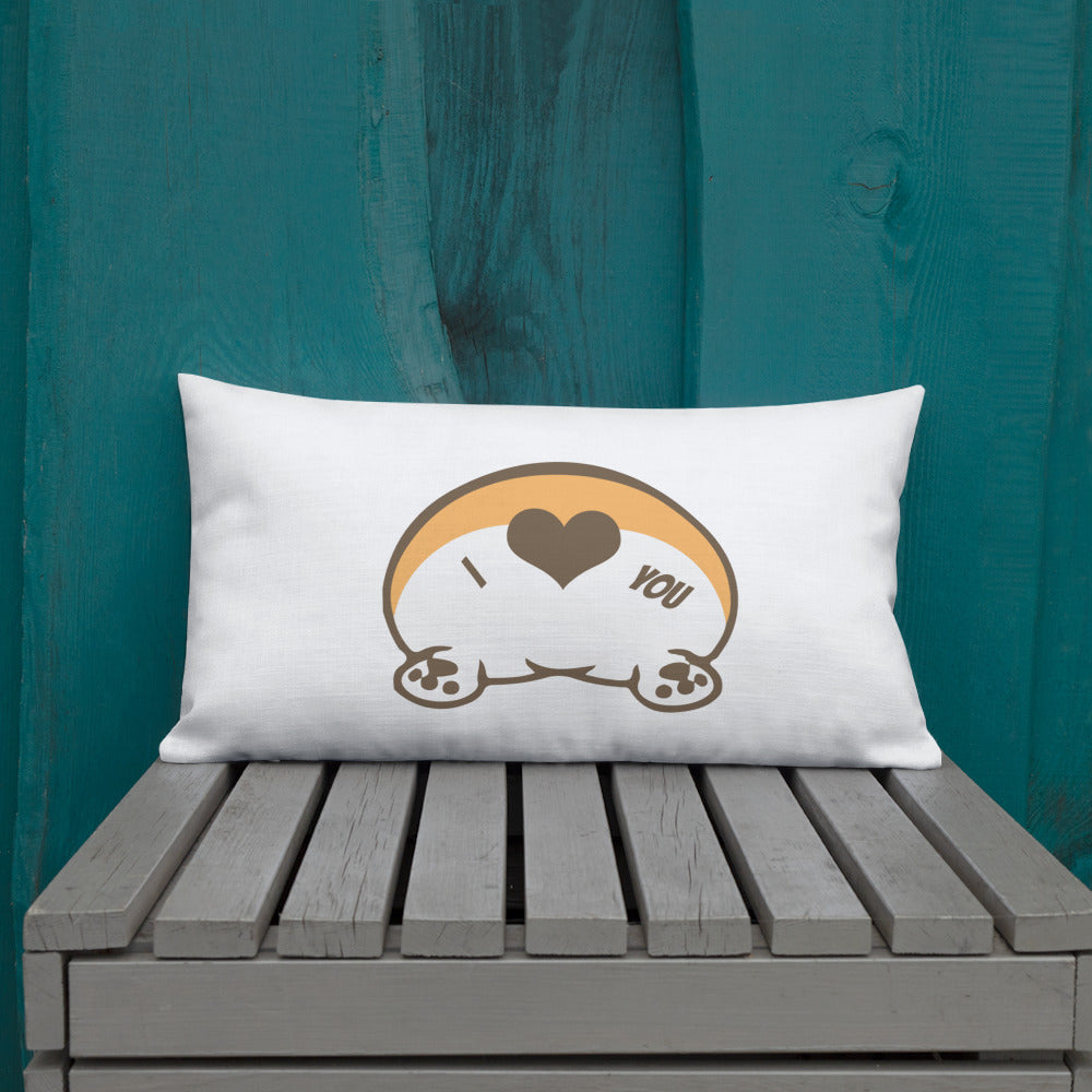 Premium Corgi butt love Pillow - Princess Nugget Shop