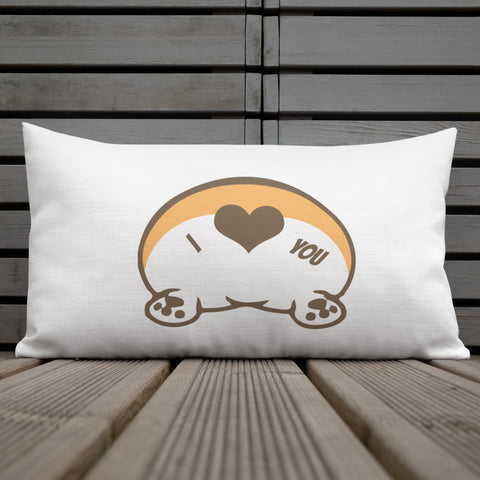 Premium Corgi butt love Pillow