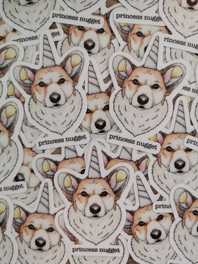 Corgi Sticker Magnet value pack - Magnet + 2 stickers - Princess Nugget Shop