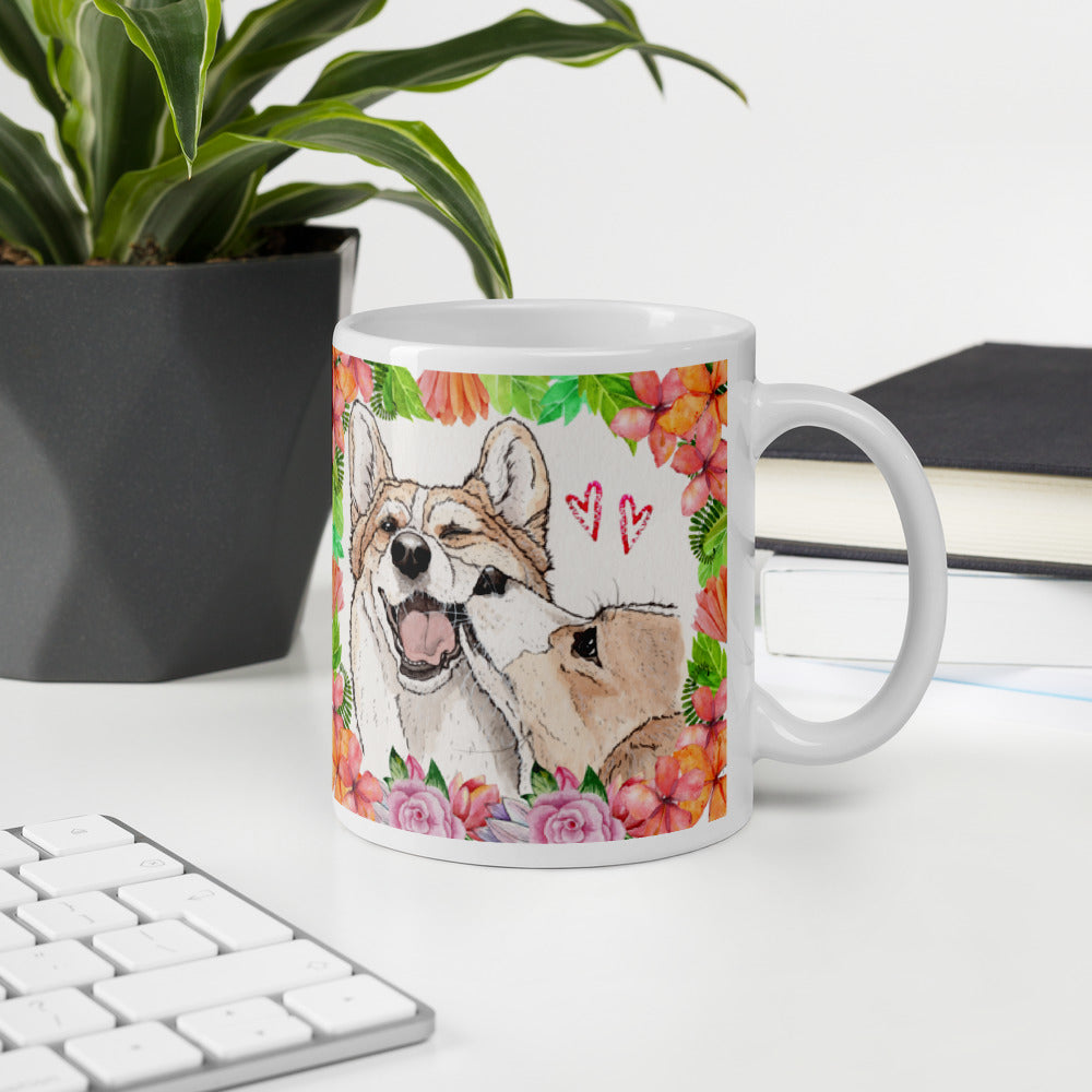 Valentines corgi love Mug - Princess Nugget Shop