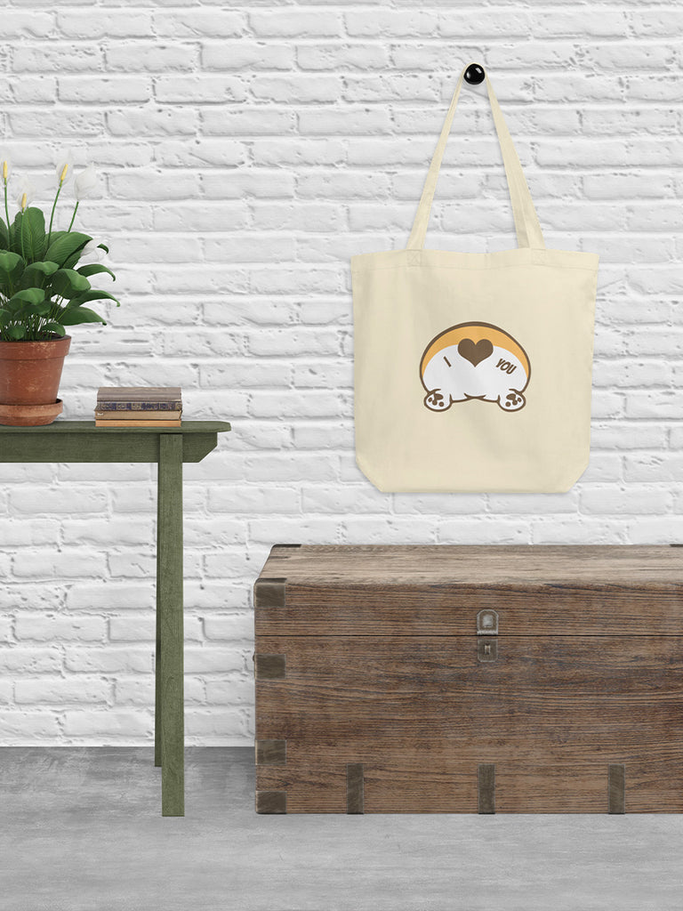 Corgi Butt Love Eco Tote bag - Princess Nugget Shop