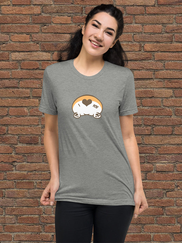 Corgi butt love Short sleeve t-shirt - Princess Nugget Shop