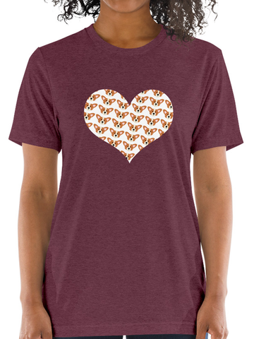 Corgi Love Big Heart Short-Sleeve Unisex T-Shirt