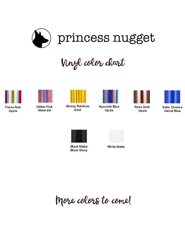 Princess Nugget Corgi Butt Vinyl sticker - Princess Nugget Shop