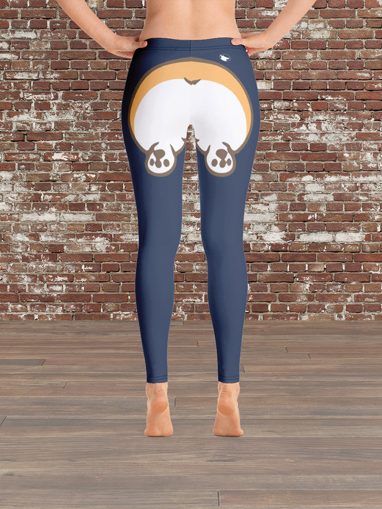 Corgi Butt Leggings© Blue Large/XL - Princess Nugget Shop