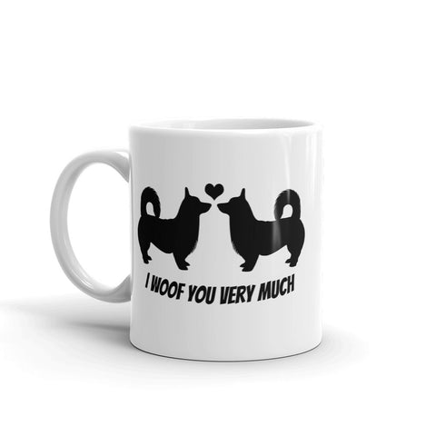 Corgi duo valentines Mug - I woof you