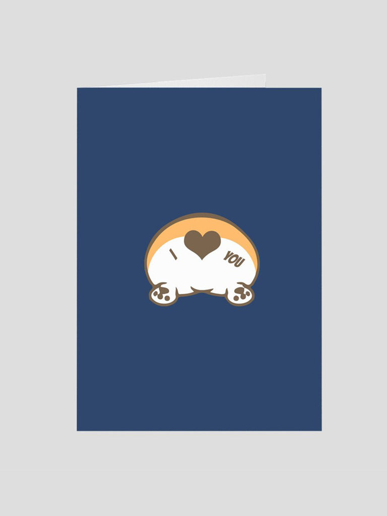 Corgi Butt Love greeting Card - Princess Nugget Shop