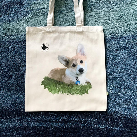 Corgi Tote bag What's up?! 100% BIO Cotton