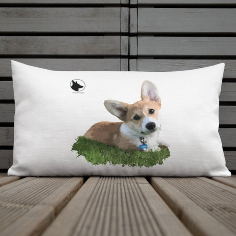 Premium Corgi Pillow - What's up?!