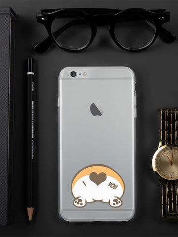 Corgi Butt Love iPhone Case Clear