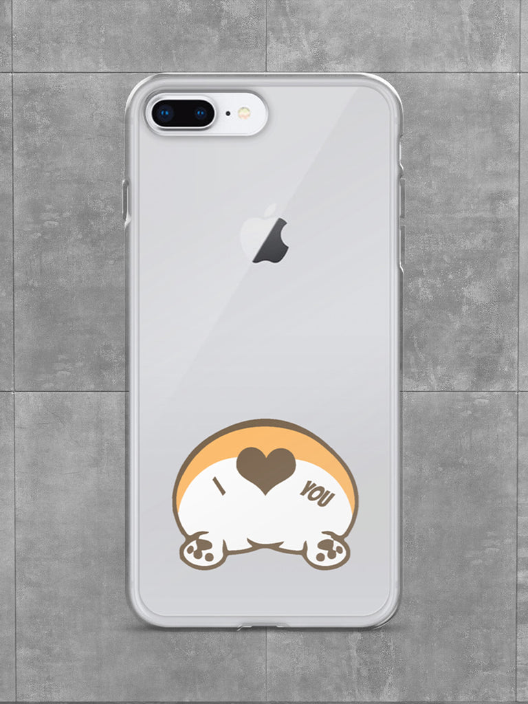 Corgi Butt Love iPhone Case Clear - Princess Nugget Shop
