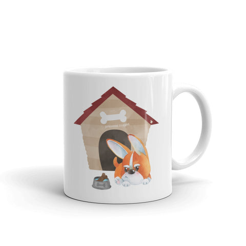 Grumpy corgi doghouse Mug - Coffee cup