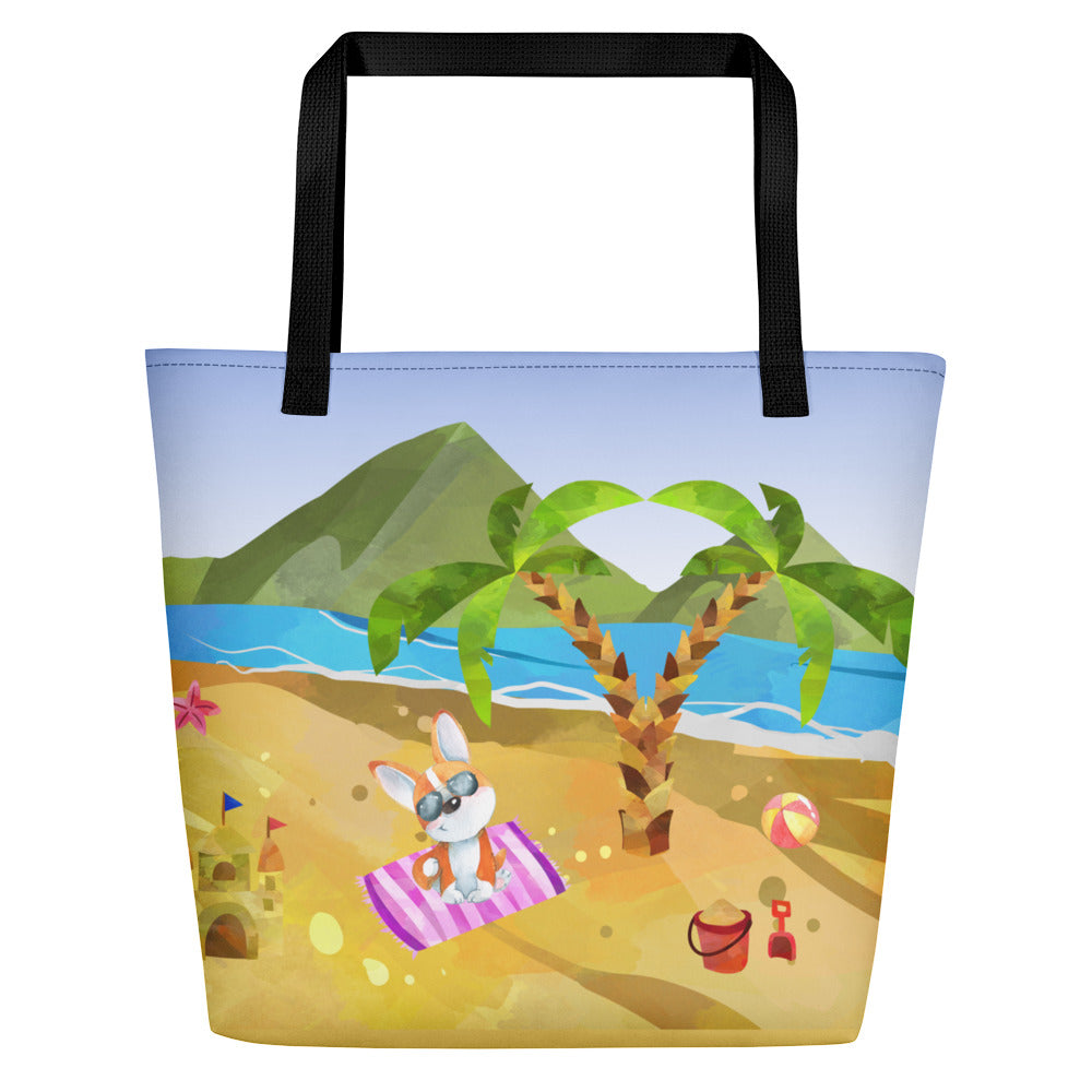 Corgi Beach Bag - Princess Nugget Shop