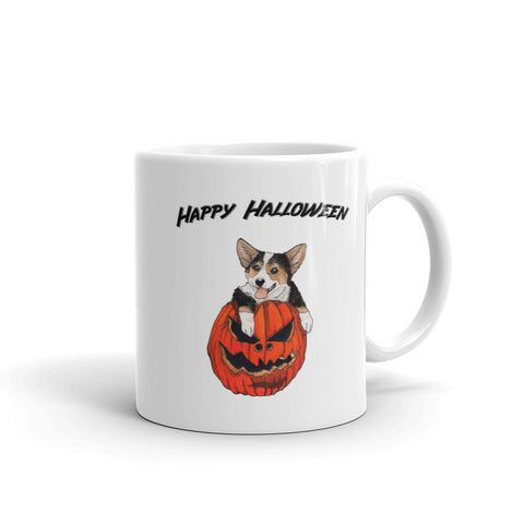 Halloween tri-color corgi Mug