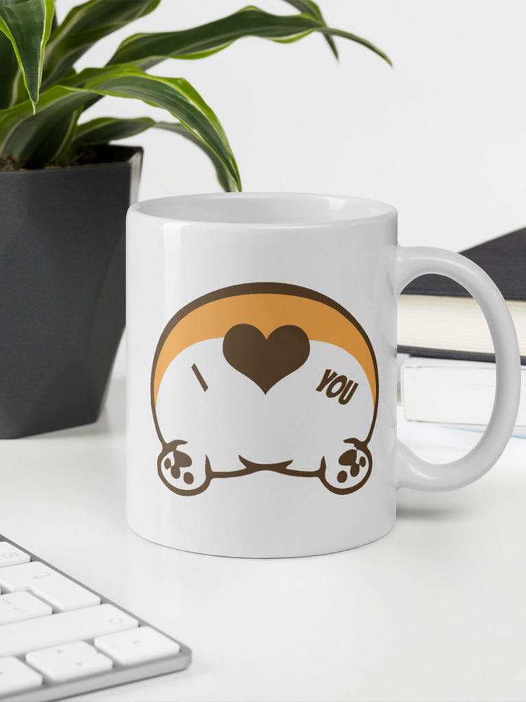 Corgi butt love Mug - Coffee cup - Princess Nugget Shop