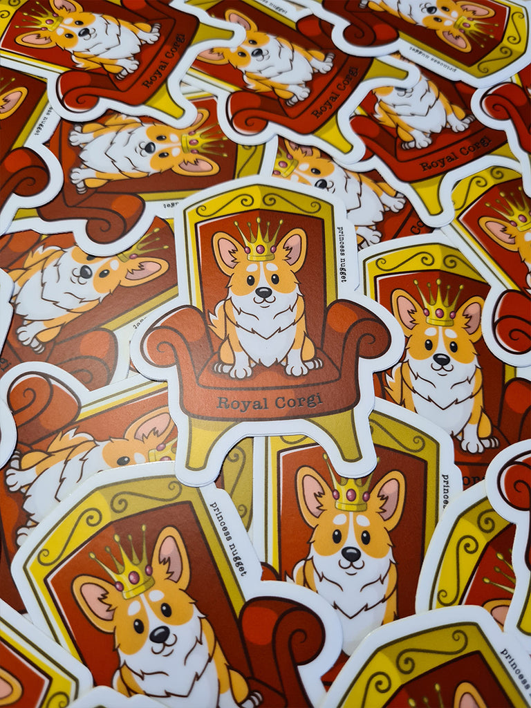 Royal corgi sticker - Princess Nugget Shop