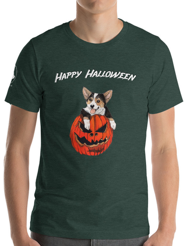 Halloween Tri-color corgi Unisex T-Shirt