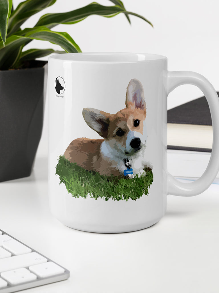 Corgi Mug - Coffee cup - Princess Nugget Shop