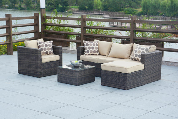 Trudy Wicker 4-piece Rattan Outdoor Patio Furniture Set