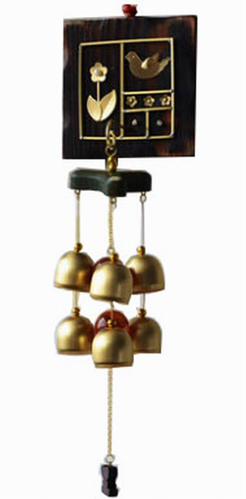 Indoor/Outdoor Decor Bronze Wind Chimes Wind Bells With 6 Bells