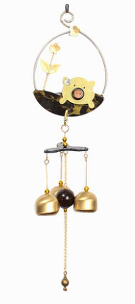 Indoor/Outdoor Decor Bronze Wind Chimes Wind Bells[ Piggy ]