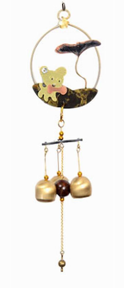 Indoor/Outdoor Decor Bronze Wind Chimes Wind Bells[ Puppy ]
