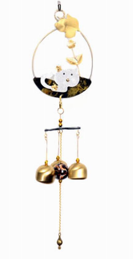 Indoor/Outdoor Decor Bronze Wind Chimes Wind Bells[ Kitty ]