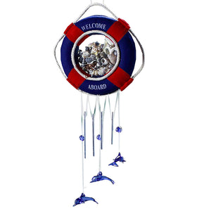 Mediterranean-style Creative Cute Handmade Ornaments Shell Wind Bell, Dark Blue