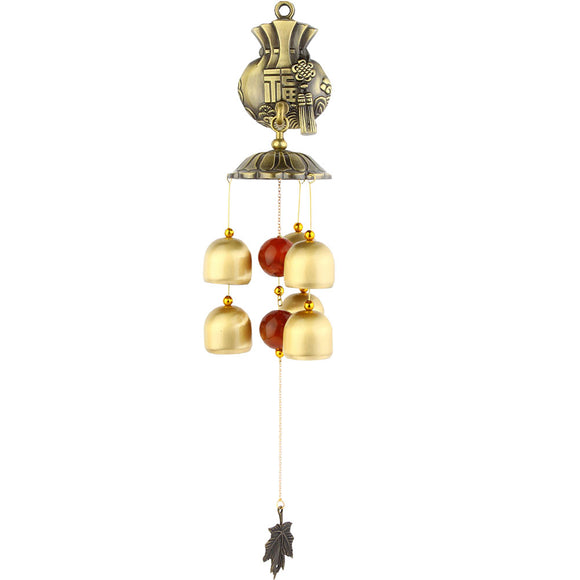 Maple Leaf Pastoral style Wind Chimes Wind Bell 6 bells