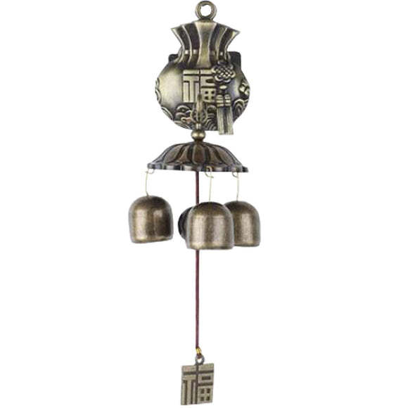 Chinese Fu Pastoral style Wind Chimes Wind Bell 3 bells