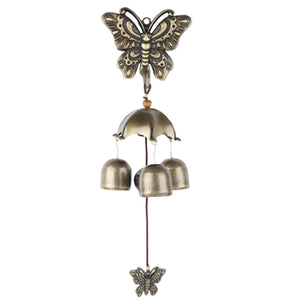 Pastoral style Wind Chimes Wind Bell 3 bells Butterfly