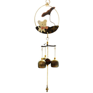 Pastoral style Cute Dog Wind Chimes Wind Bell 3 bells