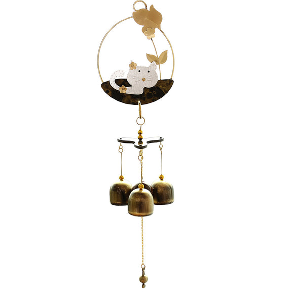Pastoral style Cute Cat Wind Chimes Wind Bell 3 bells