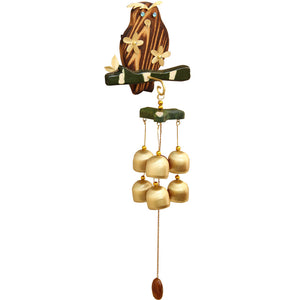 Wooden Owl Pastoral style Wind Chimes Wind Bell 6 bells