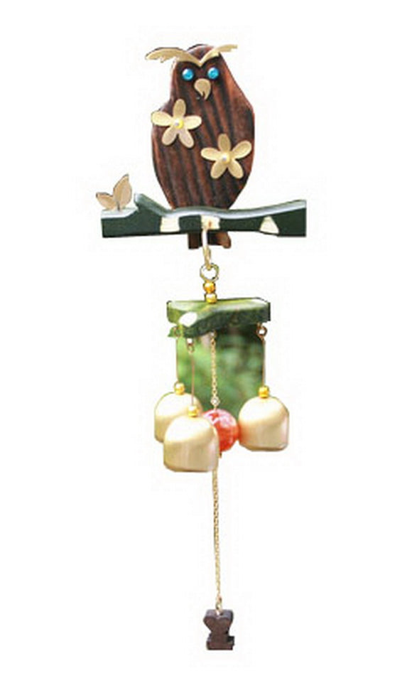 Indoor/Outdoor Decor The Owl Wind Chime/ Doorbell