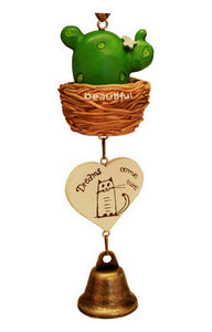 Indoor/Outdoor Decor The Cactus Wind Chime/ Doorbell