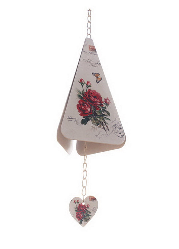 Indoor/Outdoor Decor Triangle Rose Wind Chimes/ Doorbell [A]